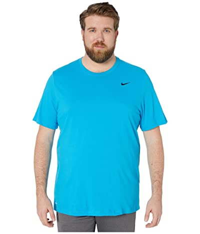 Nike Big Tall Dry Tee Dri-Fit Cotton Crew Solid (Laser Blue/Psychic Blue) Men