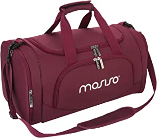 MOSISO Polyester Fabric Foldable Travel Luggage Multifunctional Duffels Lightweight Shoulder for Men/Ladies Gym Bags, Spor...