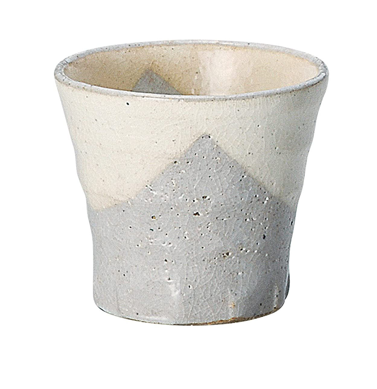 チャンピオンシップチャンピオンシップ申し立て宗峰窯 陶器 タンブラー 美濃萩 面取 カップ 300cc 354-22-463