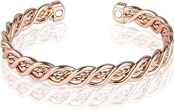 Sunwing ROSE GOLD PLATED Pure Copper Alloy Torque Healthy Magnetic Power Bracelet Bangle Adjustable C07