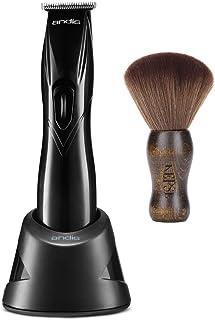 Andis Slimline Pro Li T-Blade Trimmer Black #32475 with KEPSE Neck Duster