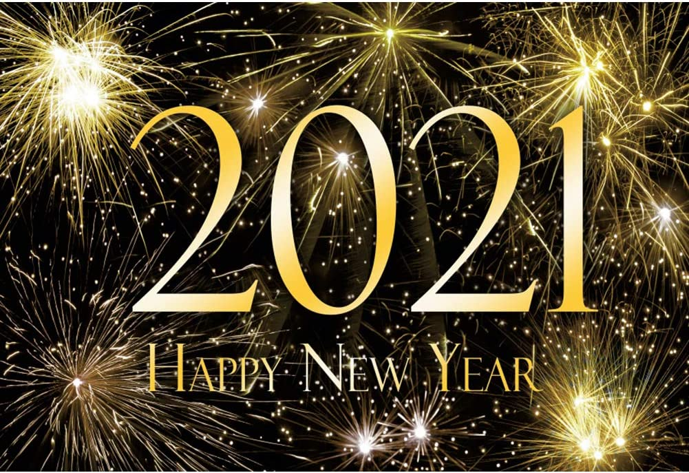 low-pricing Baocicco 9x6ft Happy New Year 2021 Very popular Brilliant Firework S Backdrop