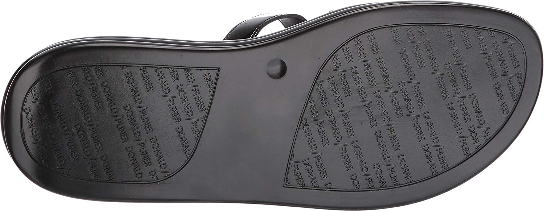 Donald J. Pliner Womens Claud Metallic Slide Sandals Black 8.5 Medium (B,M)