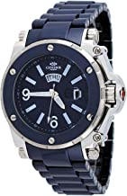 Oniss #ON670-M Men's Day/Date Sapphire Crystal Blue Ceramic Watch