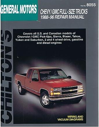 chilton's general motors full-size trucks 1988-96 repair manual (chilton's  total car care series): chilton: 9780801987984: amazon com: books