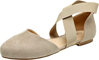 Women's Wide Width Flat Sandals - Elastic Cross Strap Pointy Toe Casual Summer Shoes.