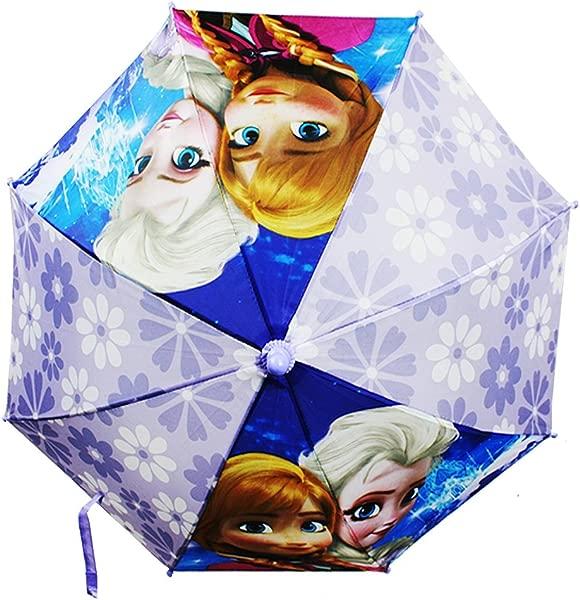 Disney Frozen Anna Elsa Girl Umbrella With 3D Frozen Figurine Handle