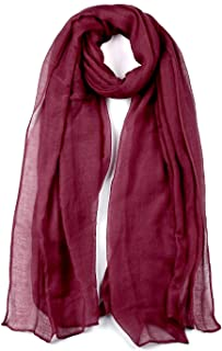 uxcell® Lightweight Shawl for Women Large Soft Classic Solid Color Scarf