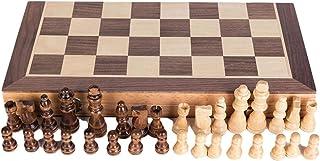 Phoetya Jeu d'échecs magnétique en noyer - Jeu d'échecs pliable - Boîte de rangement Staunton - Jeu d'échecs en bois (80/4...