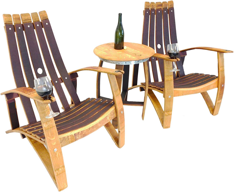 Arlington Mall Central Coast Creations Adirondack Chair Barrel Wine Set Handc - High material