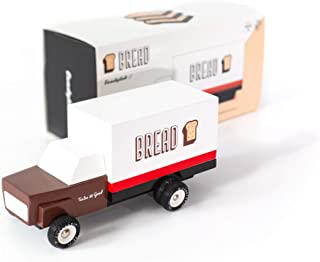Candylab Toys Wooden Cars, Bread Truck, Modern Vintage Style Collectible, Kids Toy Cars, Solid Beech Wood