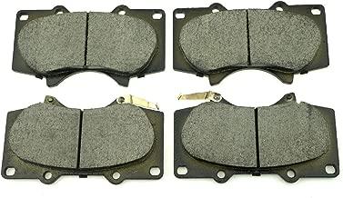 04465-35290 Disc Front Brake Pad Kit Set For 03-06 TOYOTA Tundra 03-07 Toyota Sequoia 10-14 LEXUS GX460 05-14 TOYOTA Tacoma 4WD 09-11 MITSUBISHI Montero replacement for BOSCH 0986494153