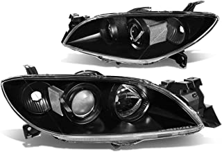 DNA Motoring Black clear HL-OH-MM304-BK-CL1 Headlight Assembly (Driver & Passenger Side)
