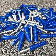 Ankers Pluggen, Hoge kwaliteit plastic expansiepijp muur pluggen plastic expansie met schroefkit 6.4x30mm 50pcs. voor gips...