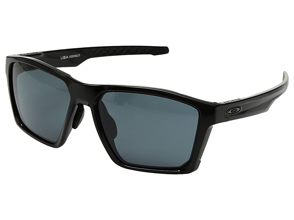 Oakley Targetline (A) (Polished Black w/ Prizm Grey) Athletic Performance Sport Sunglasses