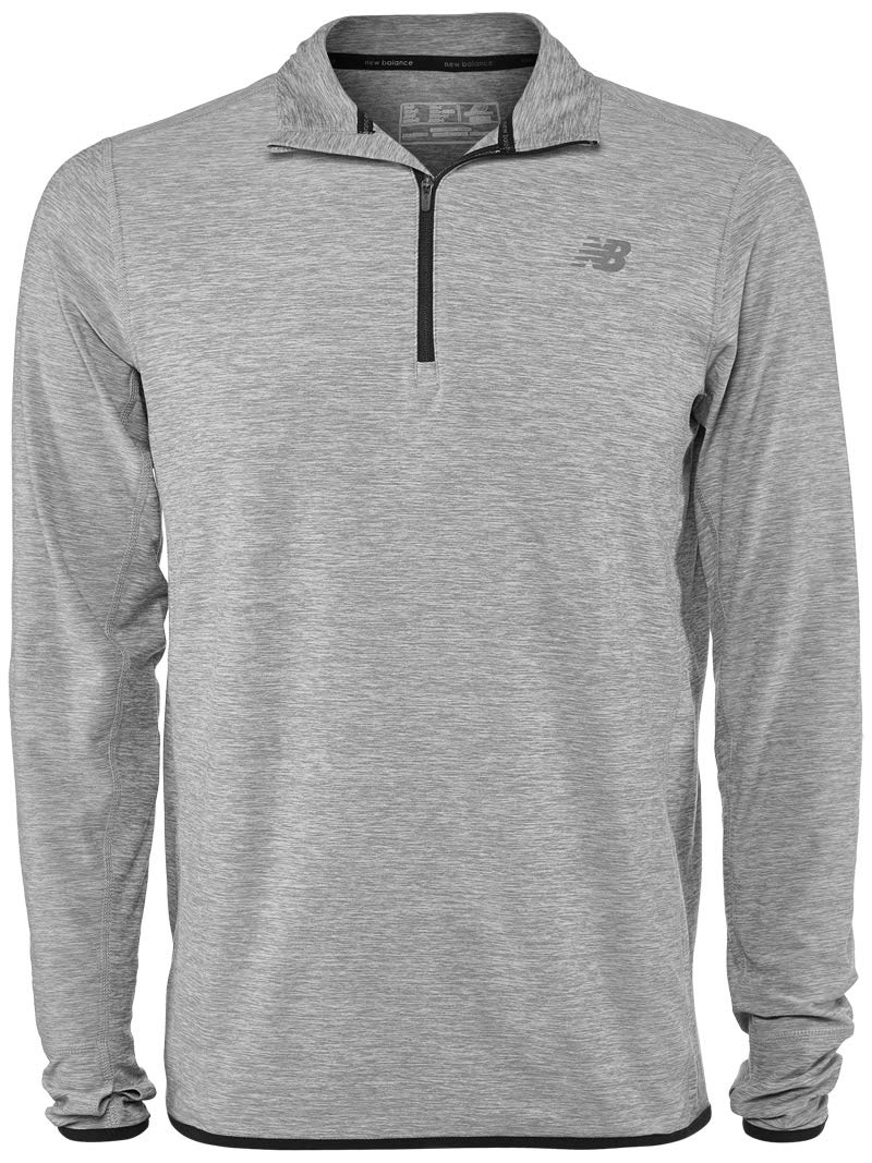 New Balance Herren Funktionelles Langarm Shirt MT53030, Athletic Grey, XL, 44834