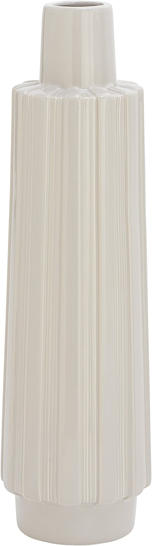 Benzara 59886Simples gris Chaud Vase en céramique