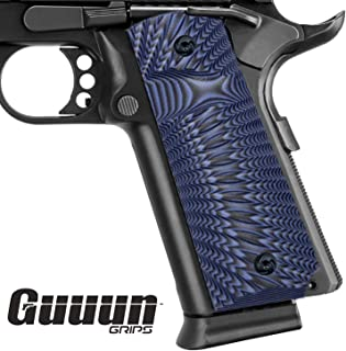 [Lefty] Full Size 1911 G10 Grips Ambi Safety Cut Sunburst Texture