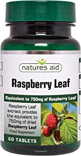 Natures Aid Raspberry Leaf Tablets 375mg Pack of 60