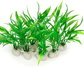 COMSUN 10 Pack Artificial Aquarium Plants, Small Size 4 inch Approximate Height Fish Tank..