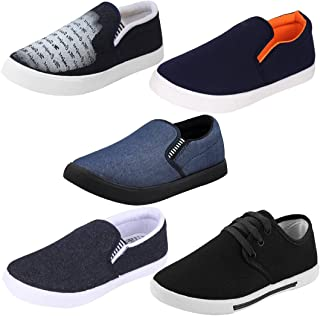 Super Men Combo Pack of 5 Casual Loafers & Moccasin Shoe with Sneakers Shoes