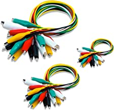 KAIWEETS 30 Pcs Electrical Alligator Clips Test Leads Sets Soldered and Stamping Jumper Wires for Circuit Connection/Experiment, 21 inches 5 Colors