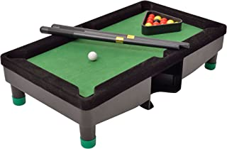 Perfect Life Ideas Desktop Miniature Pool Table Set with Mini Pool Balls Cue Sticks Accessories - Tabletop Toy Gaming for Men Women - Play Billiards Snooker - Home Office Desk Stress Relief Games