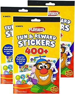 Bek Brands Fun & Reward Stickers Booklet for Motivation, Great for Teachers and Parents - 6 Sheets, 400+ Stickers (3 Pack)