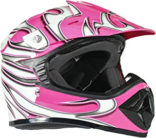 Typhoon Youth Dirt Bike Helmet Off Road ATV Motorcycle MX Kids Motocross - Pink - Small