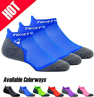 Ultralight Athletic Running Socks for Men and Women with Seamless Toe, Moisture Wicking, Cushion Padding