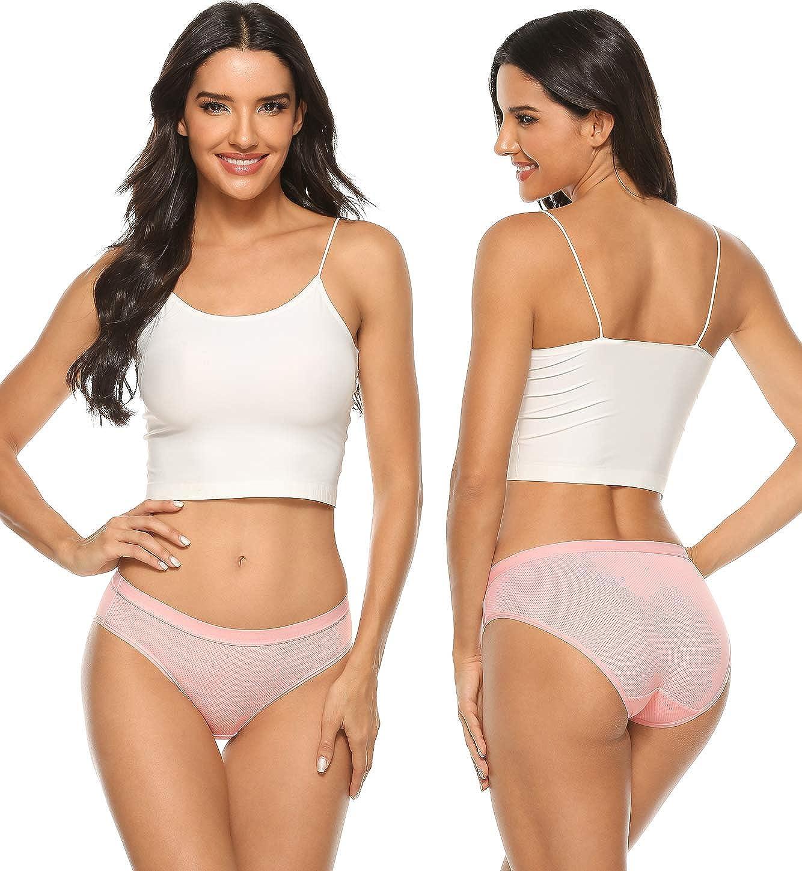 Mem in panties chat rooms Wealurre Ladies Mesh Bikini Ice Silk Panties Hipster Breathable Underwear For Women 5 Pack At Amazon Women S Clothing Store
