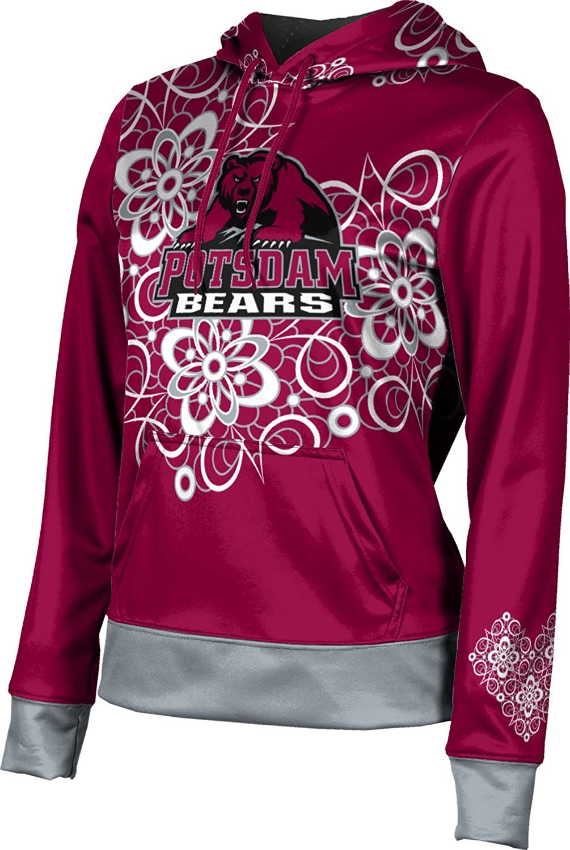 State University of New York at Potsdam Girls' Pullover Hoodie, School Spirit Sweatshirt (Foxy) F9B85 Red and Gray