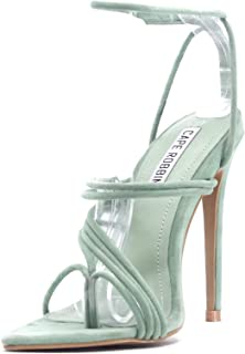 Marshmallow Sexy Stiletto High Heels for Women, Strappy Pointed Open Toe Shoes Heels