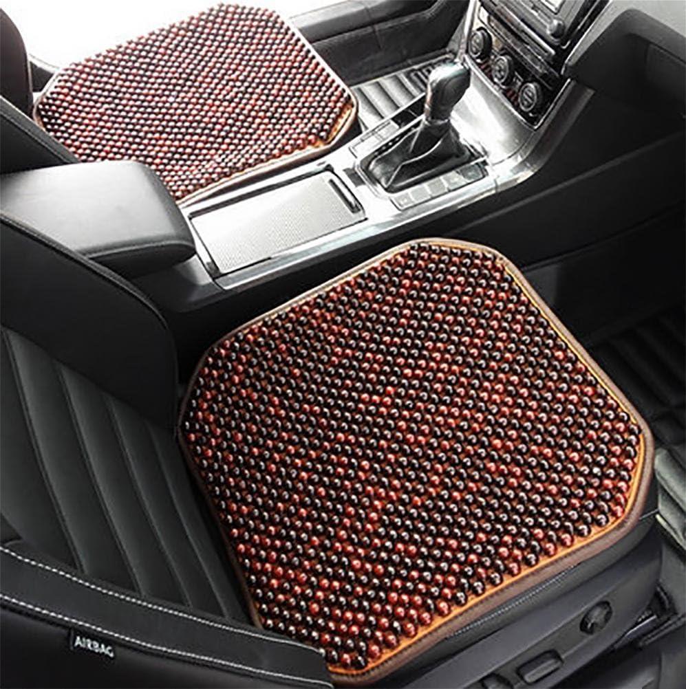 Gaofei Autositz Holzkugel Sitzauflage Stuhl Massage Rückenstütze Lordosenstütze Mesh Lüften Kissen Pad Für Haus Und Auto A Sport Freizeit