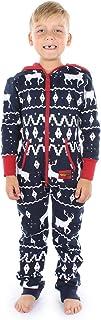 Matching Family Cozy Christmas Pajamas - Red and Blue One Piece Xmas Cozy PJ's