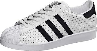 adidas Originals Men's Superstar Shoes Sneaker, White/Black/Core White, 17