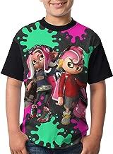 Splatoon-2-Shot Top Teenager T-Shirt Short Shirts Printed Kids Youth