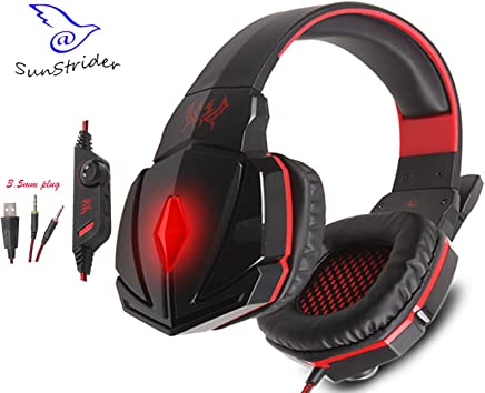 KOTION EACH G4000C Overear Stereo Gaming Cuffie Gaming Headset archetto con microfono e controllo Volume per Laptop e PC Game (nero&rosso) - Trova i prezzi più bassi