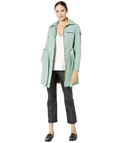Calvin Klein Single Breasted Functional Stretch Softshell (Sea Grass) Women