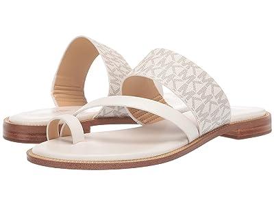MICHAEL Michael Kors Pratt Flat Sandal (Van/Cream) Women