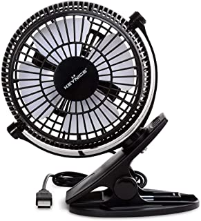 KEYNICE USB Desk Fan, 4 Inch Table Fans, Mini Clip on Fan, Portable Cooling Fan with 2..
