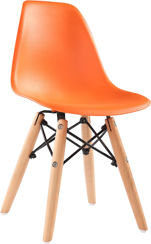 El ultimo 2018 Promo 1silla nio Inspiration Eiffel DSW Patas Madera Claro Claro Claro asiento naranja MOBISTYL mc-dswlkor-1a  muy popular