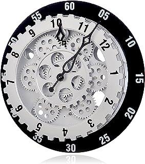 ساعة ثلاثية الأبعاد الحديثة ساعة الحديثة والعتاد الميكانيكية مع سلالم الساعات والدقائق الصامتة