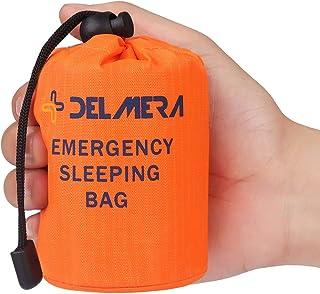 Delmera Emergency Survival Sleeping Bag, Lightweight Waterproof Thermal Emergency Blanket, Bivy Sack with Portable Drawstr...