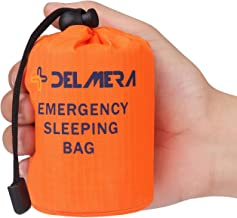 Delmera Emergency Survival Sleeping Bag, Lightweight Waterproof Thermal Emergency..