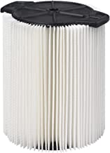 WORKSHOP Wet Dry Vac Filter WS21200F Standard Wet Dry Vacuum Filter (Single Shop Vacuum Cleaner Filter Cartridge) Fits WORKSHOP 5-Gallon To 16-Gallon Shop Vacuum Cleaners