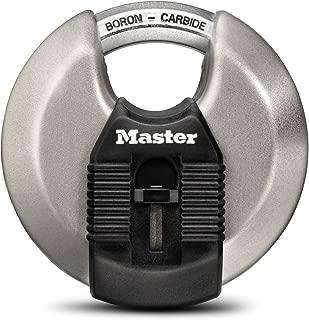 Master Lock Padlock, Magnum Stainless Steel Discus Lock, 3-1/8 in. Wide, M50XD