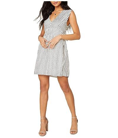 Jack by BB Dakota Yarn-Dye Rayon Stripe Dress with Waist Ties (Ivory) Women
