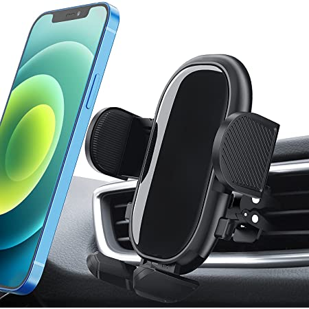 Car Phone Mount, Air Vent Car Phone Holder with Dual Release Button, Adjustable Clip, Anti-Shake Stabilizer Vent Phone Mount Compatible with iPhone 12 11 pro/11 pro max/XS/XR/X/8/7, Galaxy, and More