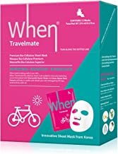 When Travelmate Premium Bio-Cellulose Refreshing Sheet Masks for Face (Pack of 12)